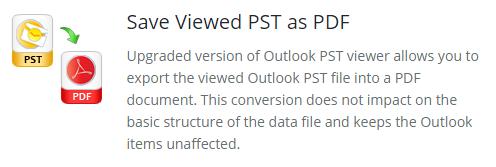 save pst as pdf