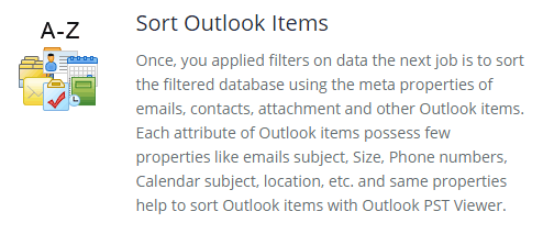 Sort Outlook Items